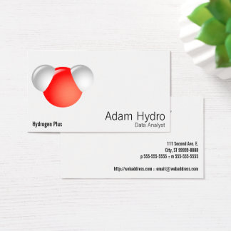 Water Molecule H2O Business Card
