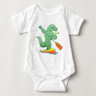 Water monitor competing in a canoe sprint event baby bodysuit
