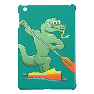 Water monitor competing in a canoe sprint event iPad mini cases