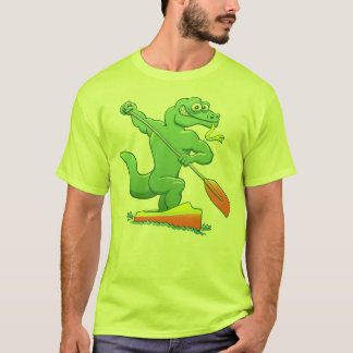 Water monitor competing in a canoe sprint event T-Shirt