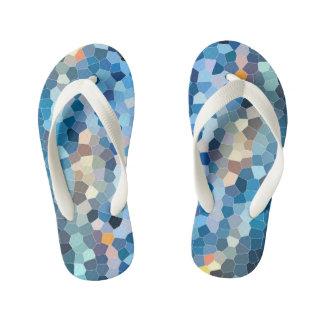 Water Mosaic [Flip Flops, Kids] Kid's Flip Flops