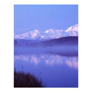 Water Mount Denali Alaska Letterhead Template