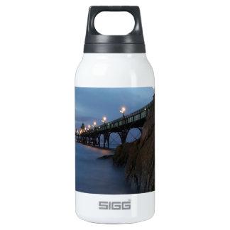 Water Nightime Pier Shot Insulated Water Bottle