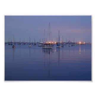 Water Ocean Bays Sailboats Sunrises Poster