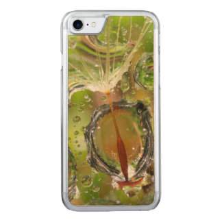Water on dandelion seed, CA Carved iPhone 8/7 Case