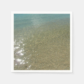 Water on the Beach I Abstract Nature Photography Paper Napkins