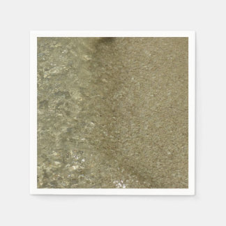 Water on the Beach II Abstract Nature Photography Disposable Napkin