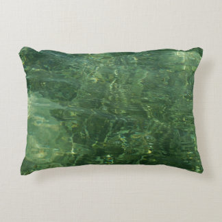Water over Sea Grass II (Blue and Green) Photo Decorative Pillow