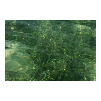Water over Sea Grass II (Blue and Green) Photo Poster