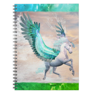 Water Pegasus Photo Notebook (80 Pages B&W)