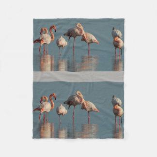 Water Pink Bird Anniversaries Destiny Destiny'S Fleece Blanket