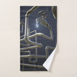 Water Pipeline Maze Hand Towel