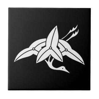 Water plantain crane tile