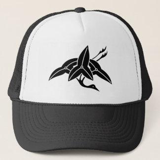 Water plantain crane trucker hat