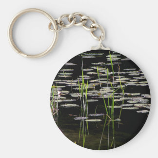 Water Plants in BC Canada Basic Round Button Keychain