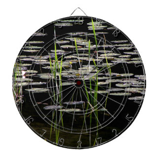Water Plants in BC Canada Dartboard With Darts