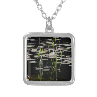 Water Plants in BC Canada Silver Plated Necklace
