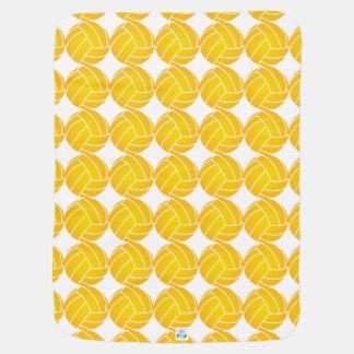 Water Polo Ball Blanket - Yellow Stroller Blanket