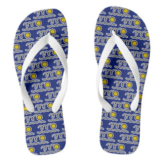 Water polo ball pool slippers or beach flip flops