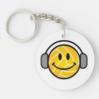 Water Polo Ball with head phones key chain