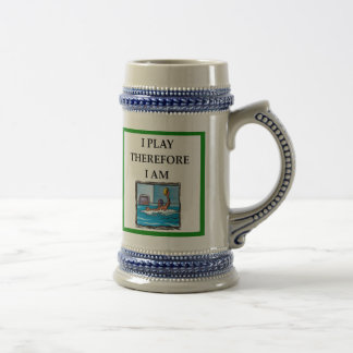 water polo beer stein