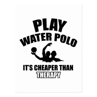 water polo design postcard