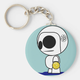 Water Polo Drone Dude Cartoon - Key Chain