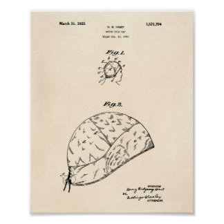 Water Polo Gap 1925 Patent Art Old Peper Poster