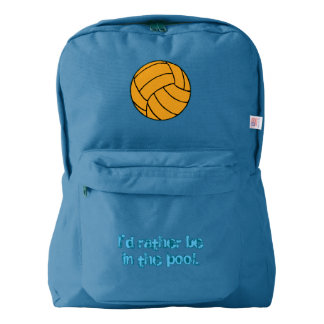 Water Polo I'd Rather Be in the Pool Backpack