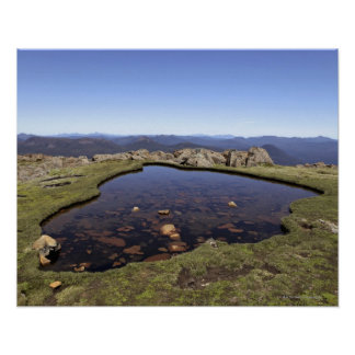 Water pond, Mount Ossa, Ossa National Park, Poster