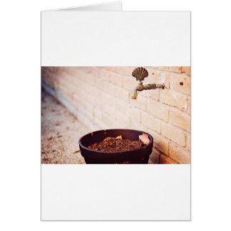 Water Pot Greeting Card