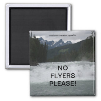 Water Rapid No Flyers Please Magnet