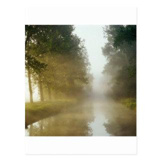 Water Ratzeburg Canal Mist Germany Postcard