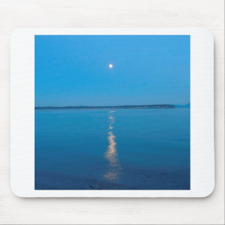 Water Reflected Moonlit Seas Mouse Pad