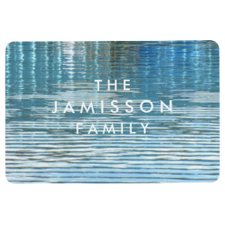 Water Reflection Seasonal Personalized Floor Mat