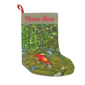 Water Reflections and the Koi Fish Stocking Small Christmas Stocking