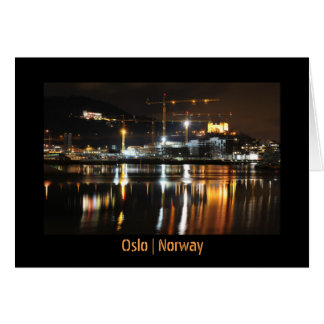 Water reflections in Oslo, Norway Card
