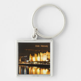 Water reflections in Oslo, Norway Keychain
