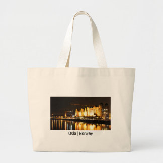 Water reflections in Oslo, Norway Large Tote Bag