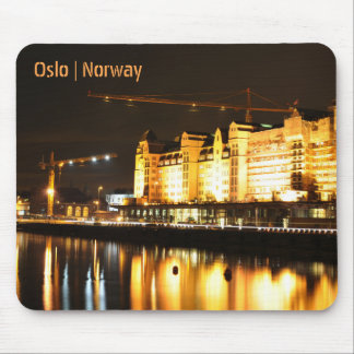 Water reflections in Oslo, Norway Mouse Pad