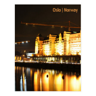 Water reflections in Oslo, Norway Postcard