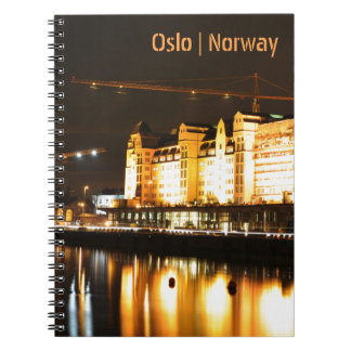 Water reflections in Oslo, Norway Spiral Notebook