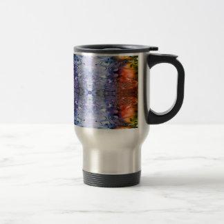 Water Reflections rain puddles abstract Travel Mug