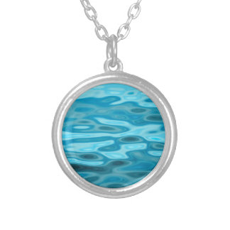 Water Reflections Silver Plated Necklace