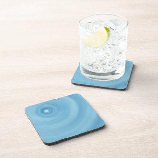 Water Rings Customizable Coaster Set w Cork Back