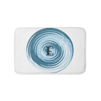 Water Ripple Monogram Customizable Bath Mat