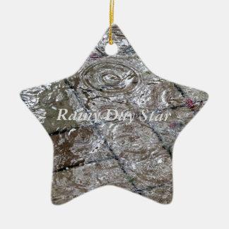 Water Ripple Rain Drop Gifts Ceramic Star Ornament