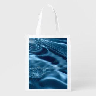 WATER RIPPLES 1 REUSABLE GROCERY BAG