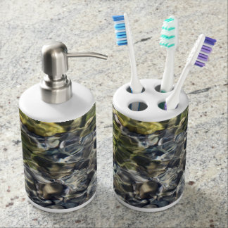Water Ripples Soap Dispenser And Toothbrush Holder
