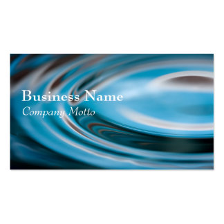Water Ripples turquoise Generic business card